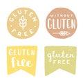 Set of gluten free badges.