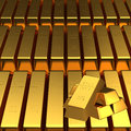 Set of gold bars for adv or others purpose use Royalty Free Stock Images