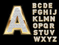 Set of gold and bling letters Royalty Free Stock Photos