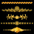 Set of gold dividers Stock Photo