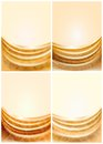 Set gold fabric curtain Royalty Free Stock Photography