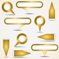 Set of gold pointers Stock Images