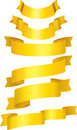 Set of gold ribbons. Stock Image
