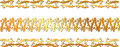 Set of gold swirl floral border Stock Photo