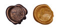 Set of golden wax seal Royalty Free Stock Photo