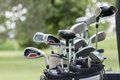 A set of golf clubs Royalty Free Stock Photo