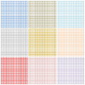 Set of graph papers Royalty Free Stock Image