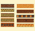 Set of greek pattern collection ancient patterns Royalty Free Stock Images