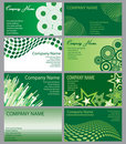 Set of Green Business Cards Royalty Free Stock Photo
