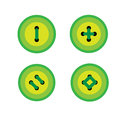 Set of green buttons