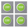 Set of green  buttons Royalty Free Stock Photo