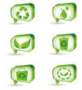 Set of green ecology icons for your ideas eps Royalty Free Stock Photos