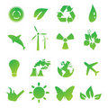 Set of green environmental Royalty Free Stock Image
