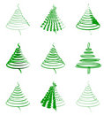 Set of green firs Royalty Free Stock Images