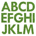 Set of green grass alphabet a m Royalty Free Stock Photos