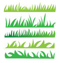 Set of green grass illustration design Stock Photography