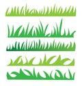 Set of green grass