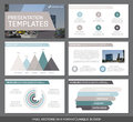 Set of green and gray, brown elements for multipurpose presentation template slides with graphs and charts. Leaflet