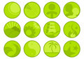 Set of Green Icons Stock Image
