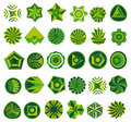 Set of green logo Stock Image