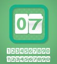 Set of green number cards Royalty Free Stock Photography
