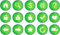 Set of green web buttons Stock Image