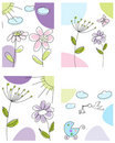 Set of greeting cards Royalty Free Stock Image