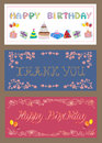 Set of greeting cards decorative for any occasion Royalty Free Stock Photo