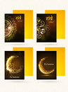 Set of greeting cards with envelopes for Eid.