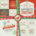 Set of greeting cards labels stickers banners a special christmas and new year offer in package and badges Stock Photos