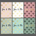 A set of greeting cards. Vector greeting cards for printing