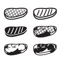 Set of grilled meat vector icon Royalty Free Stock Photo