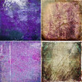 Set grunge colored  textures Royalty Free Stock Photo