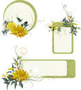 Set of grunge floral frames Royalty Free Stock Photo