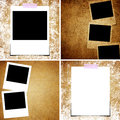 Set of grunge paper and photo background Stock Photo