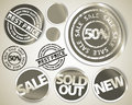 Set of grunge sale labels badges and stickers Royalty Free Stock Image