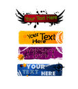 A set of grungy banners vector Stock Images