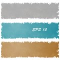 Set of grungy banners Royalty Free Stock Photo