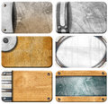 Set of Grungy Business Cards Backgrounds Royalty Free Stock Images