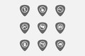 Set of guitar plectrums with prohibition related icons