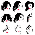 Set of hair styling Royalty Free Stock Photo