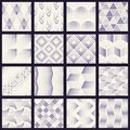 Set of halftone dotted patterns Royalty Free Stock Photo