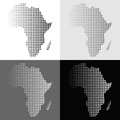 Set of halftone vector Africa map