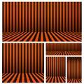 Set of Halloween background striped room in orange and black. For your design, A-4, poster, banner, website,Vector illustration. I