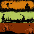 Set of Halloween card design Royalty Free Stock Image