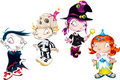 Set of Halloween Character Royalty Free Stock Photography