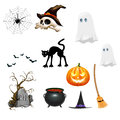 Set of Halloween Clipart Royalty Free Stock Photo