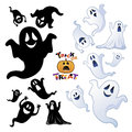 Set of Halloween Ghost, Ghost silhouette Royalty Free Stock Photos