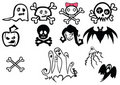 Set of halloween illustrations Stock Photography