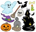 Set of Halloween images Royalty Free Stock Photo